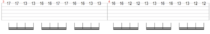 descending scale sequence on one string
